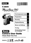 Canon PowerShot TX1 - Digital Camera - Compact Digital Camera Manual (379 pages)