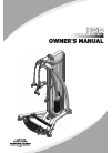 Impulse HG5 Home Gym Manual (23 pages)