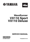 Yamaha VX110 Sport Motorcycle Manual (347 pages)