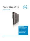 Dell PowerEdge M915 Desktop Manual (55 pages)