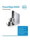 Dell PowerEdge M420 Desktop Manual (46 pages)