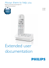 Philips D400 Telephone Manual (48 pages)