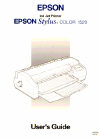 Epson 1520 - Stylus Color Inkjet Printer Printer Manual (290 pages)
