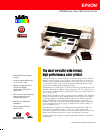 Epson 1520 - Stylus Color Inkjet Printer Printer Manual (2 pages)
