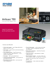 Epson Artisan 700 Printer Manual (2 pages)