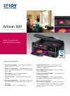 Epson Artisan 800 Printer Manual (2 pages)