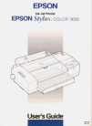 Epson Stylus Color 3000 Printer Manual (286 pages)