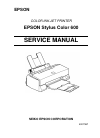 Epson Stylus Color 440 Printer Manual (160 pages)