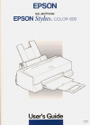 Epson Stylus Color 600 Printer Manual (212 pages)
