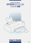 Epson Stylus Color 850 Printer Manual (255 pages)