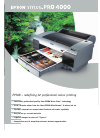 Epson 4000 - Stylus Pro Color Inkjet Printer Software Manual (4 pages)