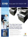 Epson AcuLaser CX11N Printer Manual (4 pages)