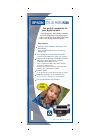 Epson R300 - Stylus Photo Color Inkjet Printer Printer Manual (2 pages)