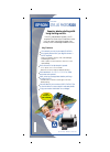 Epson R320 - Stylus Photo Color Inkjet Printer Printer Manual (2 pages)