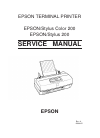 Epson Stylus Color 200 Printer Manual (84 pages)