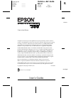 Epson Stylus COLOR 300 Printer Manual (91 pages)