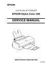 Epson Stylus Color 400 Printer Manual (145 pages)