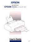 Epson Stylus Color 800 Printer Manual (240 pages)