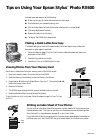Epson Stylus Photo RX600 Printer Manual (2 pages)