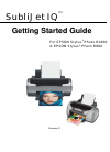 Epson R800 - Stylus Photo Color Inkjet Printer Printer Manual (53 pages)