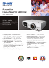 Epson 6500 UB Home Theater Screen Manual (2 pages)