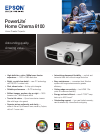 Epson PowerLite 6100 Home Theater Screen Manual (2 pages)