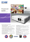 Epson 826W - PowerLite WXGA LCD Projector Software Manual (2 pages)