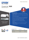 Epson PowerLite 1825 Printer Manual (2 pages)