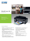 Epson C11CA27201 - WorkForce 40 Color Inkjet Printer Printer Manual (2 pages)