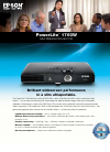 Epson PowerLite 1760W Software Manual (4 pages)