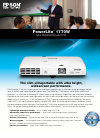 Epson PowerLite 1770W Software Manual (4 pages)