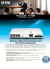 Epson PowerLite 1775W Software Manual (4 pages)