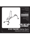 Evo TAHOE 51552B Home Gym Manual (16 pages)
