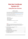 Red Hat CERTIFICATE SYSTEM 8.0 - ADMINISTRATION Other Manual (48 pages)