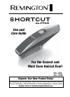 Remington SCC-100R Hair Clipper Manual (36 pages)