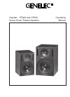 Genelec HT208 Home Theater System Manual (4 pages)