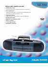 Philips AW7050 Radio Manual (2 pages)