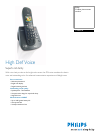 Philips CD6451B Telephone Manual (2 pages)
