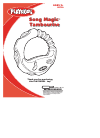 Hasbro Song Magic Tambourine 08736 Musical Instrument Manual (4 pages)