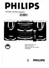 Philips FW 630 Radio Manual (22 pages)