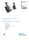 Philips SE6552B/17 Telephone Manual (2 pages)