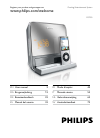 Philips DC190 MP3 Player Accessories Manual (12 pages)