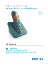 Philips CD150 Telephone Manual (39 pages)