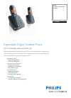 Philips CD1552B/17 Telephone Manual (2 pages)