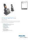Philips SE7452B Telephone Manual (2 pages)