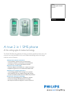 Philips TU7372 Telephone Manual (2 pages)