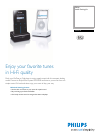 Philips DC276 MP3 Player Accessories Manual (2 pages)