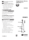 Philips HX3600 Electric Toothbrush Manual (2 pages)