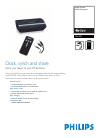 Philips PAC003 MP3 Player Accessories Manual (2 pages)