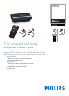 Philips PAC005 MP3 Player Accessories Manual (2 pages)